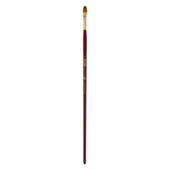 Кисть синтетика, Zibi Cherry 6971, овальная 8, длинная ручка, ART Line (ZB.6971SFBT-8)