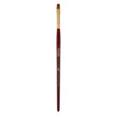 Кисть синтетика, Zibi Cherry 6970, плоская 6, короткая ручка, ART Line (ZB.6970SFT-6)