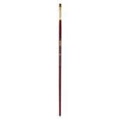 Кисть синтетика, Zibi Cherry 6971, плоская 6, длинная ручка, ART Line (ZB.6971SFT-6)