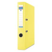 Регистратор Donau, А4, 50 мм, рычаж. мех, двухсторонний, желтый (3955001PL-11)