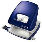 Дырокол настольный металлический Leitz New NeXXt Style, 30 листов титановый синий (5006-00-69)