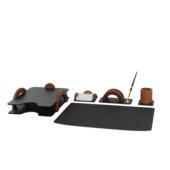 Набор настольный Bestar Arch 5 предметов из орехового дерева (5257FDX)