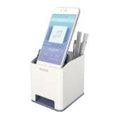 Пластиковая подставка для ручек и смартфона Leitz WOW квадратная, белая (5363-10-01)