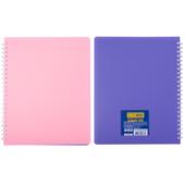 Тетрадь для записей двусторонняя Buromax Summer Time B5 96 л. в клетку с пластиковой обложкой Светло-розовая / Сиреневая (BM.2466-26)