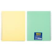 Тетрадь для записей двусторонняя Buromax Summer Time B5 96 л. в клетку с пластиковой обложкой Светло-желтая / Лаймовая (BM.2466-56)