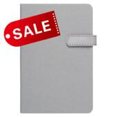 Блокнот 11,5х16,5 блок: чистий лист LAUR, серый (692162)