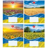 Тетрадь Мрії Збуваються Я люблю Украину B5 клетка 12 л (ТА5.1211.2597к)