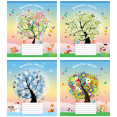 Тетрадь Мрії Збуваються Волшебное дерево B5 косая линия 12 л (ТА5.1221.3081с)