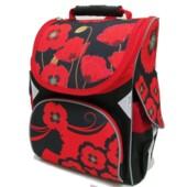 Рюкзак шкільний каркасний Josef Otten Маки 34x26x14.5 см (1604JO)