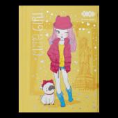 Блокнот ZiBi Cute Girl A6 в клетку 64л (ZB.12715-08)