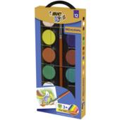 Акварельные краски BIC с кисточкой 12цв (bc947708)