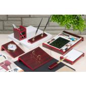 Набор настольный Bestar Angled 8 предметов из красного дерева (8141FDU)