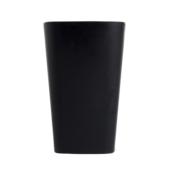 Стакан пластиковый для письменных принадлежностей (творчества) Arnika квадратный 8х8х11,7 см Черный (81661)