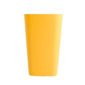 Стакан пластиковый для письменных принадлежностей (творчества) Arnika квадратный 8х8х11,7 см Желтый (81666)
