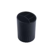 Стакан-подставка пластиковый Арника, 4 отделения, черный (81981)