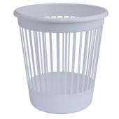 Корзина для бумаг Арника, 10 л, пластик, белый (82062)
