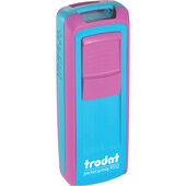 Карманная оснаска для штампа Trodat Pocket Printy 9512 розово-голубая (9512 рож/блак)