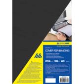 Обложки картонные Buromax, под кожу, черный, А4, 250 г/м2, 50 шт (BM.0580-01)