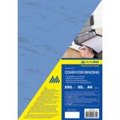 Обложки картонные Buromax, под кожу, синий, А4, 250 г/м2, 50 шт (BM.0580-02)