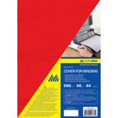 Обложки картонные Buromax, под кожу, красный, А4, 250 г/м2, 50 шт (BM.0580-05)