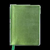 Ежедневник недатированный Buromax Metallic, А5, 288 стр., салатовый (BM.2033-15)