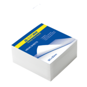 Блок белой бумаги для записей Buromax Jobmax BM.2208, 90х90х30 мм, склеенный