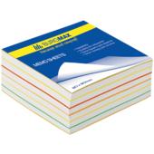 Блок бумаги для записей Buromax Радуга BM.2232, 80х80х30 мм, 400 лист, склеенный