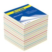 Блок бумаги для записей Buromax Радуга BM.2249, 90х90х70 мм, 1100 лист, не склеенный