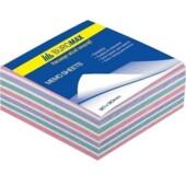 Блок бумаги для записей Buromax Зебра BM.2265, 90х90х40 мм, 500 лист, не склеенный