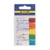 Закладки пластиковые с клейким слоем Buromax BM.2305-98, 45х12 мм, 5х20 л, неон, ассорти