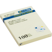 Блок для заметок с клейким слоем Buromax BM.2313-01, 76х102 мм, 100 л, желтый