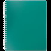 Тетрадь на пружине Buromax Classic, B5, 80 л, пласт. обл, клетка, зеленый (BM.2419-004)