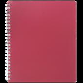 Тетрадь на пружине Buromax Classic, B5, 80 л, пласт. обл, клетка, красный (BM.2419-005)
