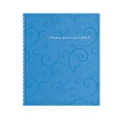 Тетрадь на пружине Buromax Barocco, B5, 80 л, пласт. обл, клетка, голубой (BM.2419-614)