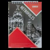 Блокнот Buromax Metropolis 48 листов A4 в клетку Красный (BM.24445101-05)