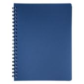 Книжка записная на пружине Buromax STATUS А4, 80л.,кл., пластик.обл., графит (BM.24452153-50)