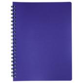 Книжка записная на пружине Buromax STATUS А4, 80л.,кл., пластик.обл., чароит (BM.24452153-52)