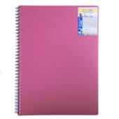 Тетрадь на пружине Buromax Classic, А4, 80 л, клетка, пласт. обложка, красный (BM.2446-005)