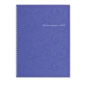 Тетрадь на пружине Buromax Barocco, А4, 80 л, клетка, пласт. обложка, фиолетовый (BM.2446-607)
