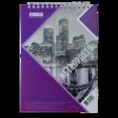 Блокнот Buromax Metropolis 48 листов A5 в клетку Фиолетовый (BM.24545101-07)