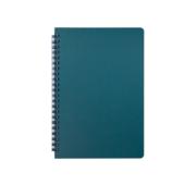 Тетрадь Buromax Office 96 листов А5 в клетку пластиковая обложка Зеленый (BM.24551150-04)