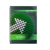 Тетрадь Buromax Sphere 80 листов А5 в клетку Зеленый (BM.24552101-04)