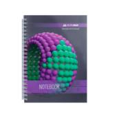 Тетрадь Buromax Sphere 80 листов А5 в клетку Фиолетовый (BM.24552101-07)