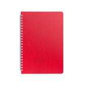 Тетрадь Buromax Bark 60 листов А5 в клетку пластиковая обложка Красный (BM.24554154-05)