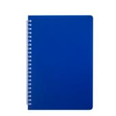 Тетрадь Buromax Bright 60 листов А5 в клетку пластиковая обложка Синий (BM.24554155-02)