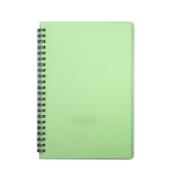 Тетрадь Buromax Bright 60 листов А5 в клетку пластиковая обложка Салатовый (BM.24554155-15)