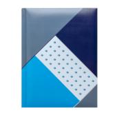Блокнот Buromax Fusion 140 х 185 мм в клетку с поролоном 80 листов Синий (BM.24582102-02)
