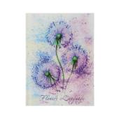 Записная книжка Buromax Flowers Language A6 в клетку 64 л. твердая обложка сиреневая (BM.24614101-26)