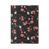 Записная книжка Buromax Flora А6 64 л. в клетку твердая обложка черная (BM.24614102-01)
