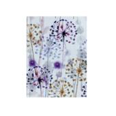 Записная книжка Buromax Flora А6 64 л. в клетку твердая обложка фиолетовая (BM.24614102-07)